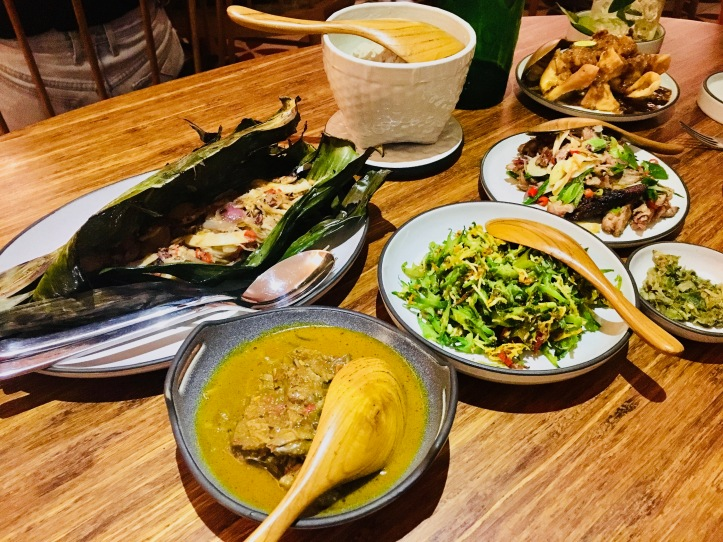 A table of Indonesian food