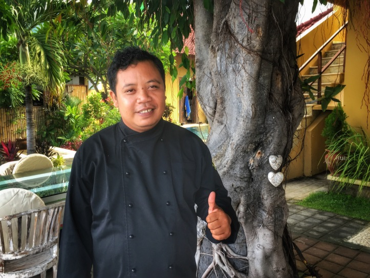 Chef Gus standing in the restaurant