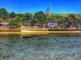 Nusa Ceningan shore from the straight