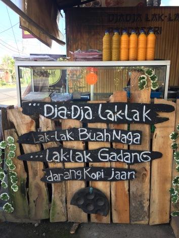 Street side food stall in Bedugul