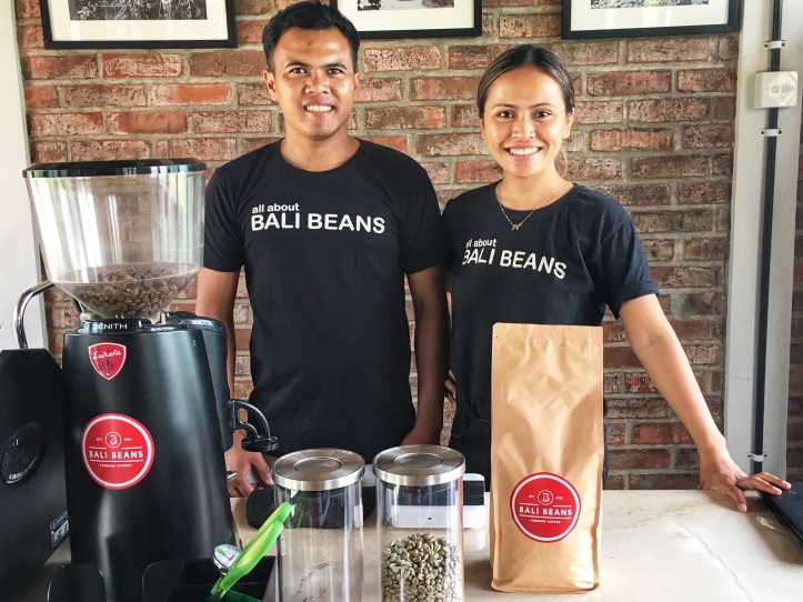 Bali Beans team. Ayu and her brother