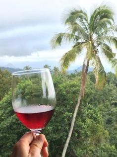 The red is light and fruity - perfect for the tropical climate