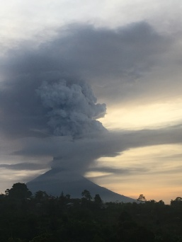 Mount Agung erupts in 2017