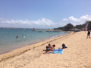 Spacious beach at Sanur